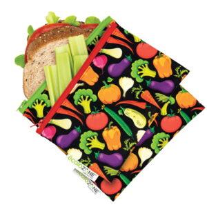 Duo de pochettes sandwich/collation zéro déchet - Fait au Québec - Au fil des saisons