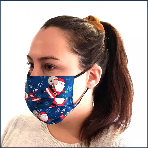 Masque en tissu lavable - Père Noël - Fait au Québec - Au Fil Des Saisons
