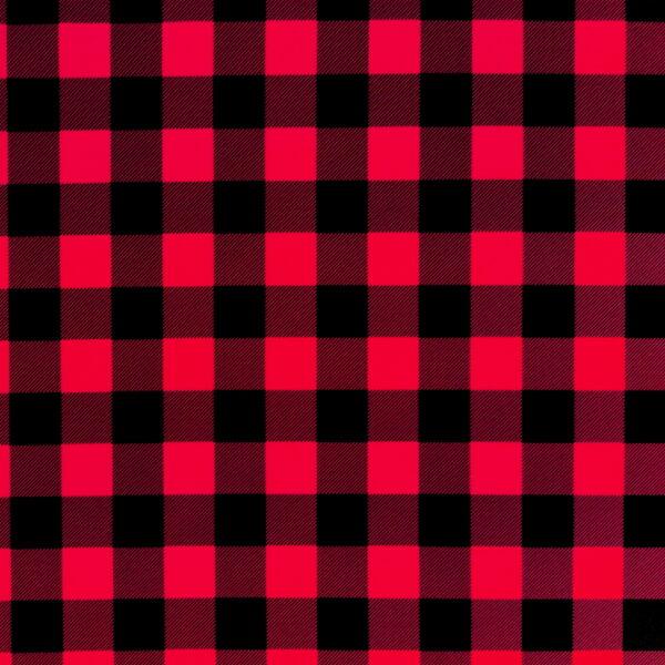 P10 - Motif - Carreaux rouges et noirs - Au fil des saisons