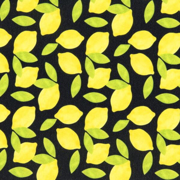 P14 - Motif - Citrons (noir) - Au fil des saisons