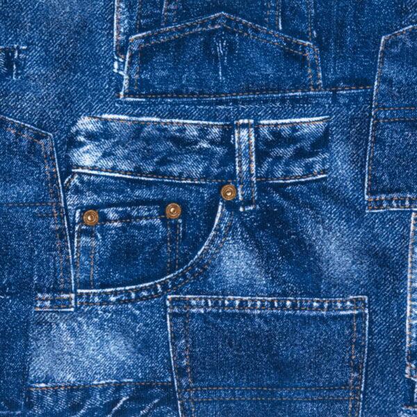 P15 - Motif - Jeans denim (bleu) - Au fil des saisons