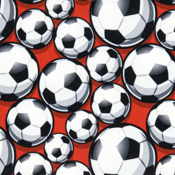 P16 - Motif - Ballons de soccer (rouge) - Au fil des saisons