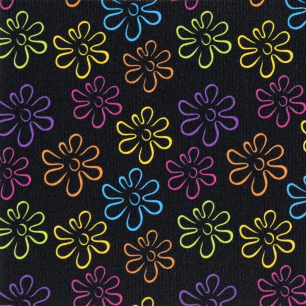 P17 - Motif - Fleurs néons (noir) - Au fil des saisons