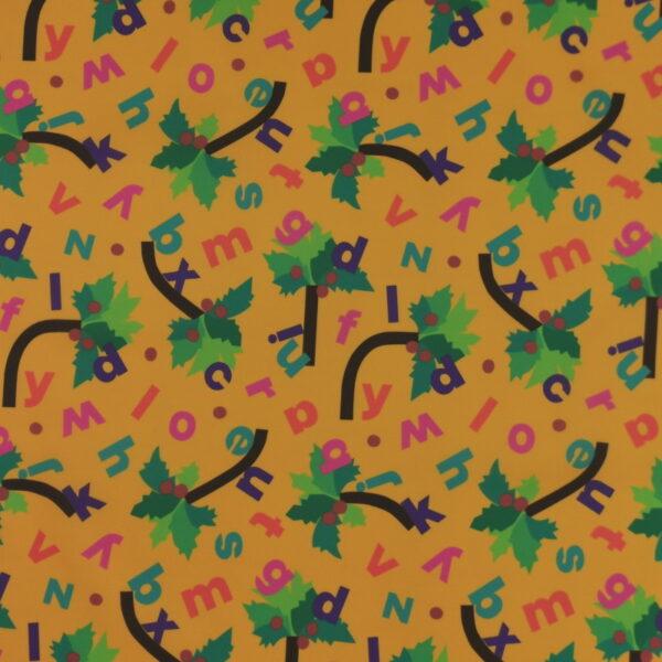 P18 - Motif - Palmiers (gold) - Au fil des saisons
