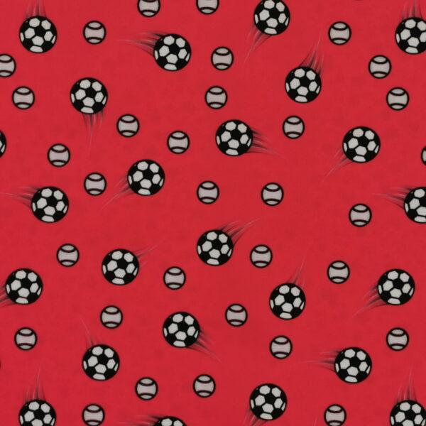 P23 - Motif - Soccer (rouge) - Au fil des saisons