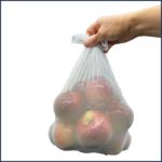 Sac pour fruits et légumes ultra extensible blanc Écolozone - Fait au Québec - Au Fil des Saisons