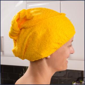 Serviette pour cheveux en ratine de coton - Fait au Québec - Au Fil des Saisons