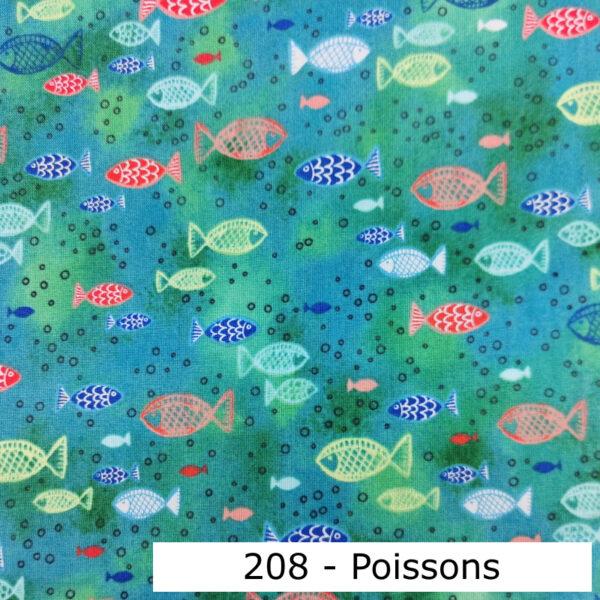 208 - Motif - Poissons (vert) - Au fil des saisons