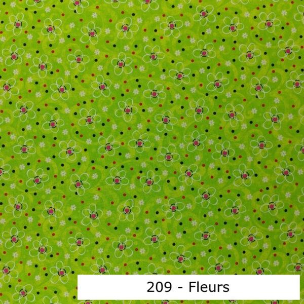 209 - Motif - Fleurs (vert lumineux) - Au fil des saisons
