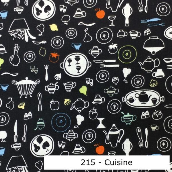 215 - Motif - Cuisine (noir) - Au fil des saisons