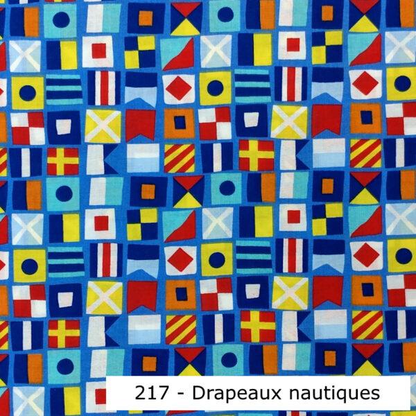 217 - Motif - Drapeaux nautiques - Au fil des saisons