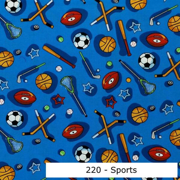 220 - Motif - Sports (bleu) - Au fil des saisons
