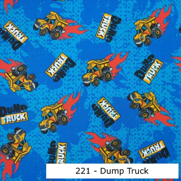 221 - Motif - Dump truck - Au fil des saisons