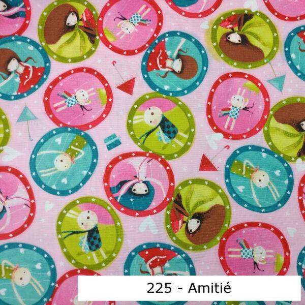 225 - Motif - Amitié (rose) - Au fil des saisons
