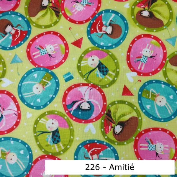 226 - Motif - Amitié (chartreuse) - Au fil des saisons