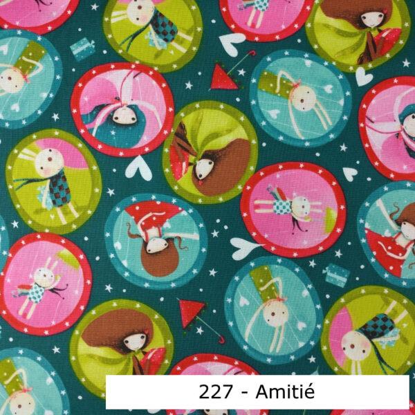 227 - Motif - Amitié (turquoise) - Au fil des saisons