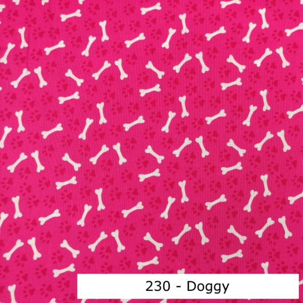 230 - Motif - Doggy (fushia) - Au fil des saisons