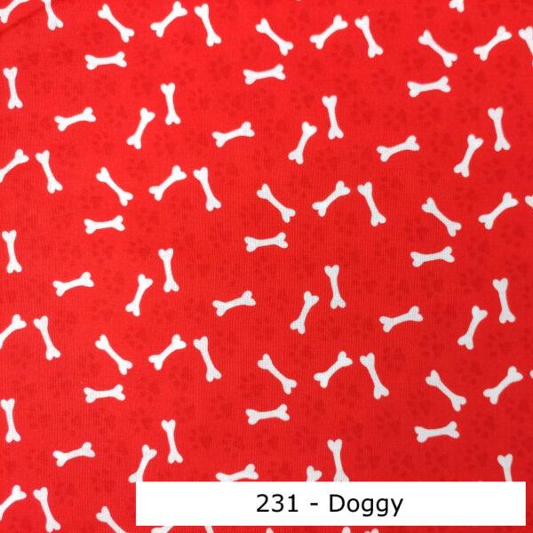 231 - Motif - Doggy (rouge) - Au fil des saisons