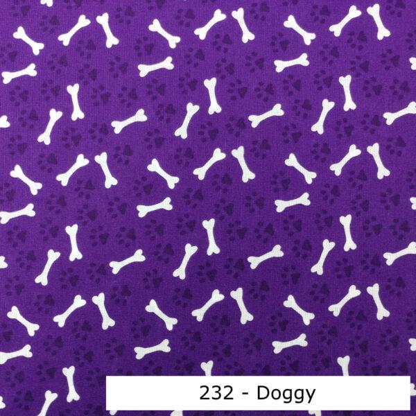 232 - Motif - Doggy (mauve) - Au fil des saisons