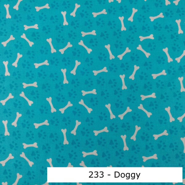 233 - Motif - Doggy (aqua) - Au fil des saisons
