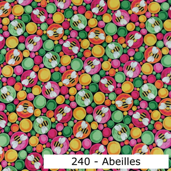 240 - Motif - Abeilles (multicolore) - Au fil des saisons