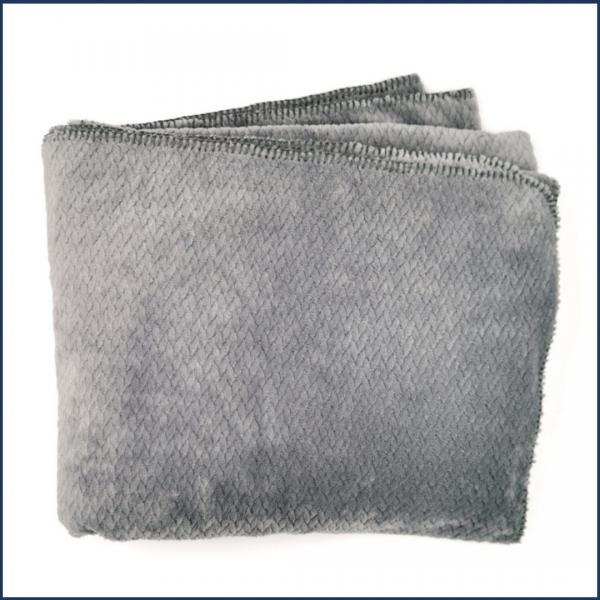 Doudou-jeté réconfort (gris perle) - Fait au Québec - Au Fil Des Saisons