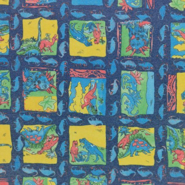 Motif pyjama Dinosaures (bleu) - Fait au Québec - Au Fil des Saisons