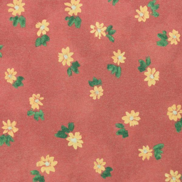 Motif pyjama Fleurs oranges (brûlé) - Fait au Québec - Au Fil des Saisons