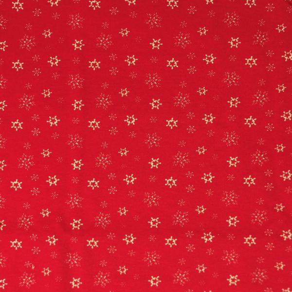 Motif pyjama Flocons (rouge) - Fait au Québec - Au Fil des Saisons