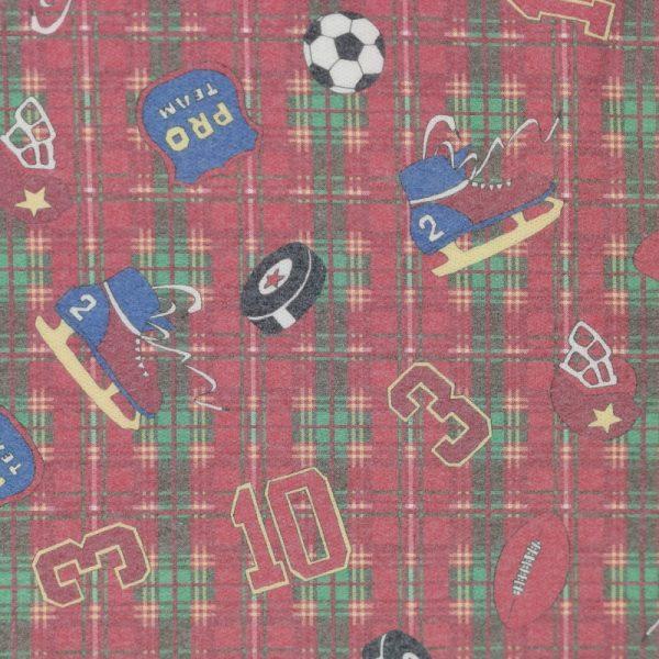 Motif pyjama Hockey (rouge) - Fait au Québec - Au Fil des Saisons