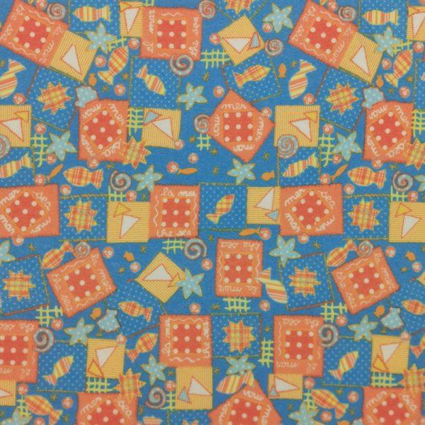 Motif pyjama La mer (bleu-aqua) - Fait au Québec - Au Fil des Saisons
