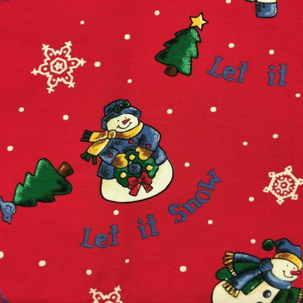 Motif pyjama Let it Snow (rouge) - Fait au Québec - Au Fil des Saisons