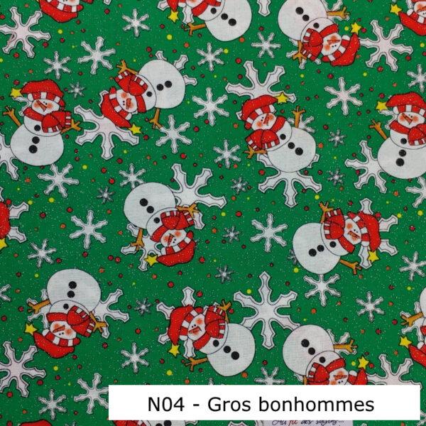 N04-Motif-Noel-Bonhommes-de-neige-flocons-Vert-Au-fil-des-saisons