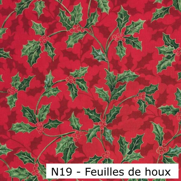 N19-Motif-Noel-Feuilles de houx-Au-fil-des-saisons