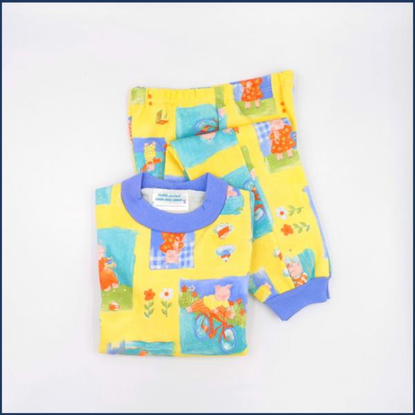 Pyjama Petits cochons (jaune) - Fait au Québec - Au Fil des Saisons