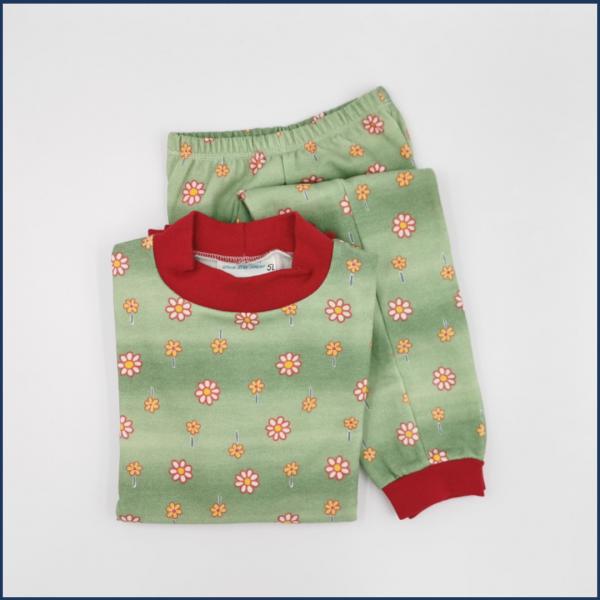 Pyjama Marguerites (vert) - Fait au Québec - Au Fil des Saisons