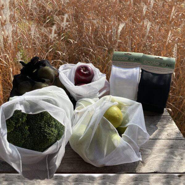 Sacs extensibles pour fruits et légumes Écolozone - Fait au Québec par Au Fil des Saisons