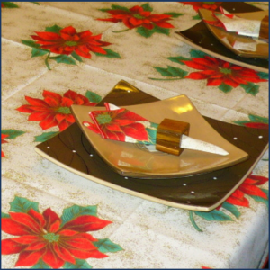 Serviette de table festive de Noël - Fait au Québec - Au Fil Des Saisons